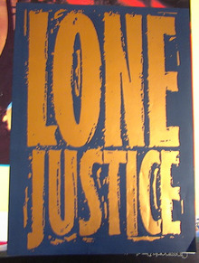 LONE JUSTICE POSTER NICE POSTER