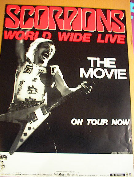 SCORPIONS WORLD WIDE LIVE TOUR THE MOVE.