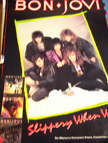 BON JOVI  SLIPPERY WHEN WET ALBUM POSTER