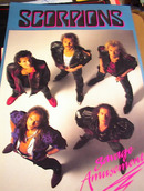 SCORPIONS SAVAGE AMUSEMENT ALBUM POSTER