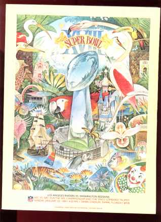 super bowl xviii la & redskins 1984 tampa