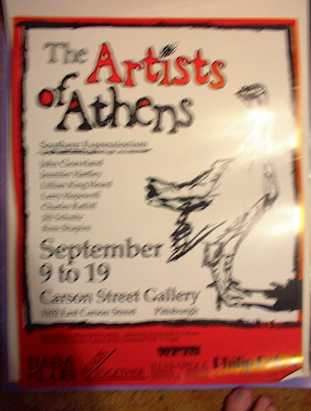 THE ARTIST OF ATHENS SEPT 9-19 PITTSBURGH
