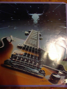 S. WATTS COOL POSTER OF A GUITAR