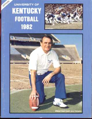 Univ of Kentucky football 1982 Media mag