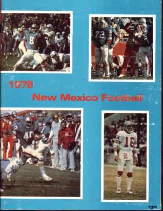 Univ New Mexico Football 1978 great photos