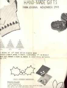 Knit & Embroidery Christmas Gifts 1949