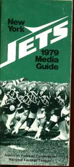 NY Jets 1979 Media Guide Excellent