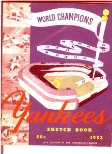 NY Yankees,World Champ-Sketchbook 1952