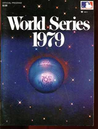 World Series 1979 Official Program excellent