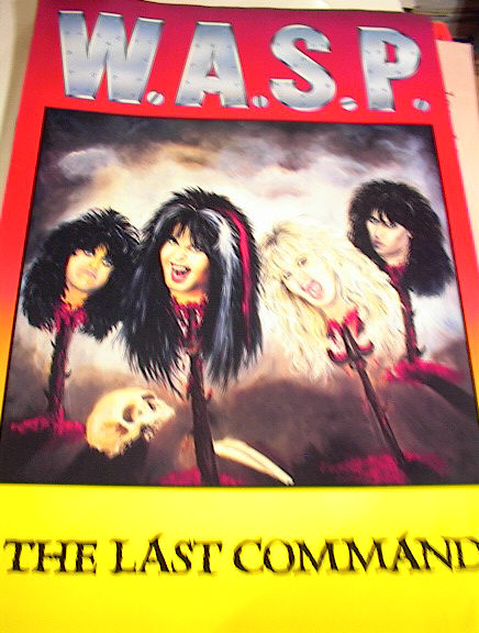 W.A.S.P. THE LAST COMMAND ALBUM POSTER