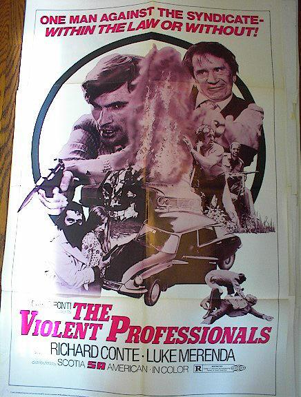 THE VIOLENT PROFESSIONALS 1974 RICHARD CONTE