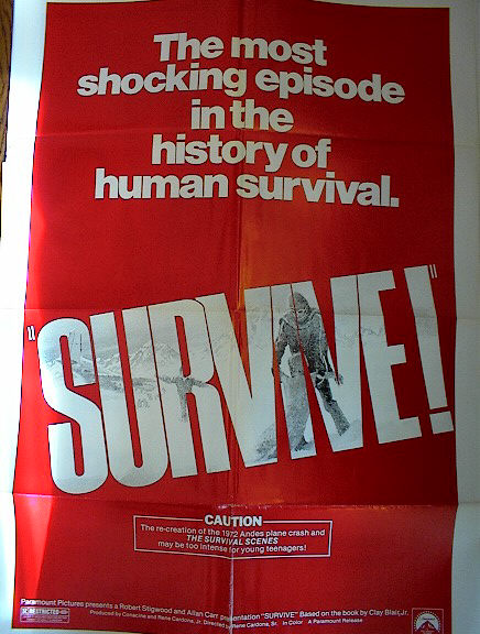 SURVIVE 1976 GREAT POSTER