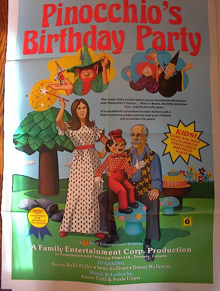 PINOCCHIO'S BIRTHDAY PARTY 1974 GREAT POSTER