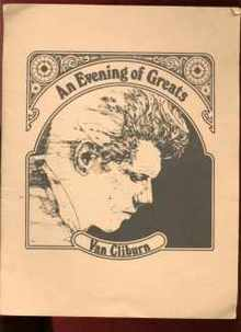 Van Cliburn An Evening of Greats 1973 program