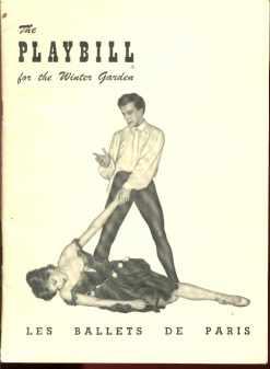 Les Ballets De Paris Dec 1949 Lovely Program