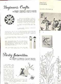 Lrg Lot Holiday/Party Craft Instructions 1960