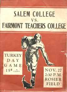 Salem vs Fairmont WV College - Program 1930