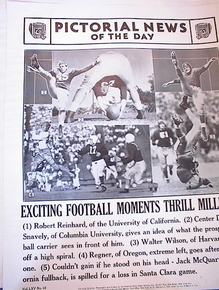 EXCITING FOOTBALL MOMENTS THRILL 1941 PHOTOS