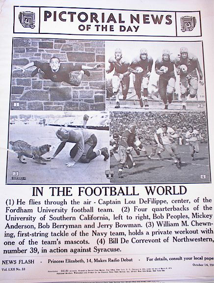 PHOTOS OF THE 1940 FOOTBALL WORLD