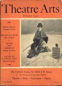 Charlie Chaplin Theatre Arts 2/1942 magazine