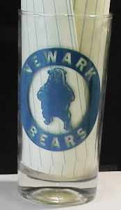 Newark Bears Continental Football Leag glass