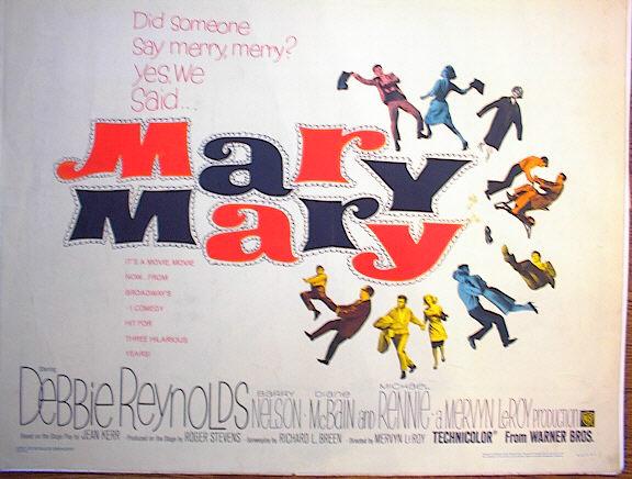 MARY MARY *ing DEBBIE REYNOLDS 1963