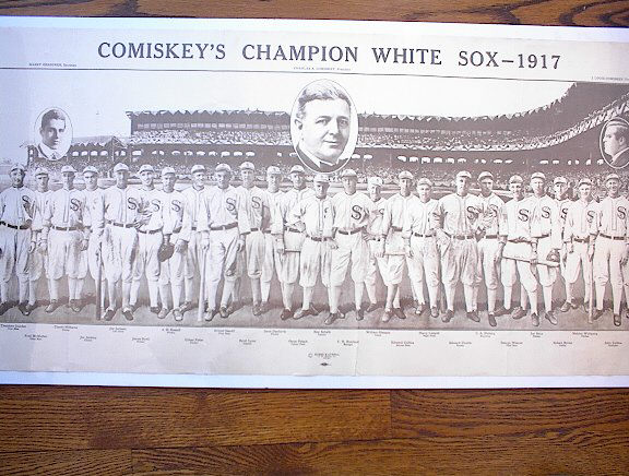 COMISKY'S CHAMPION WHITE SOX -1917 REPRINT