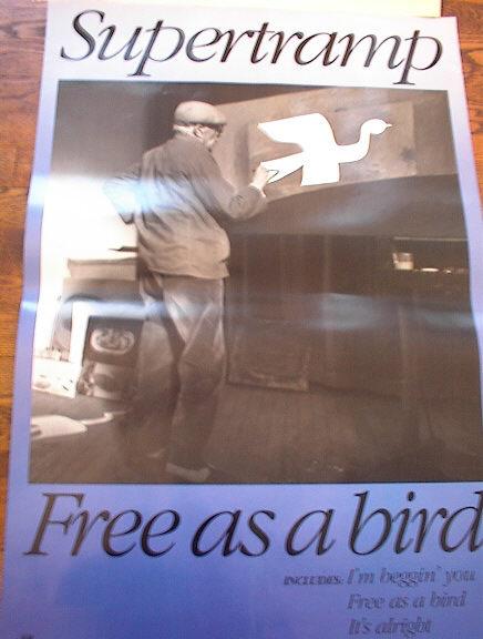 SUPERTRAMPS 'FREE AS A BIRD' ALBUM POSTER