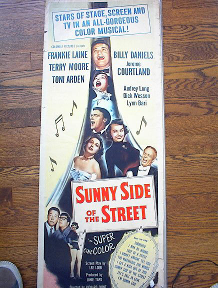 SUNNY SIDE OF THE STREET 1951*ing TERRY MOORE