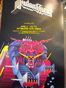 JUDAS PRIEST ORIG CONCERT POSTER PITTSBURGH