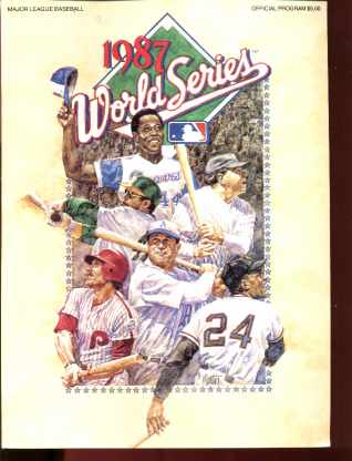 1987 World Series Official Program art cover