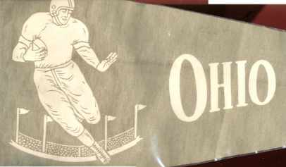 Great Ohio U Football Pennant 1950 11.5x28
