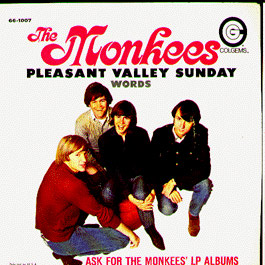 The Monkees PLEASANT VALLEY SUNDAY 45rpm covr