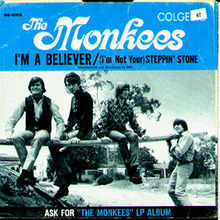 The Monkees I'M A BELIEVER 45rpm photo cover