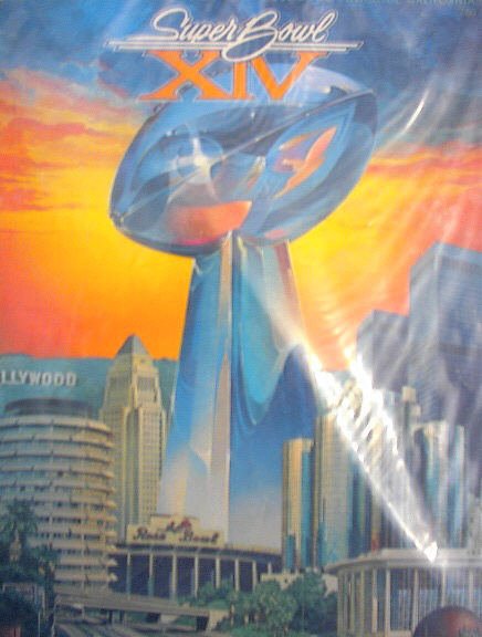 1980 SUPER BOWL XIV MAGAZINE STEELERS vs RAMS