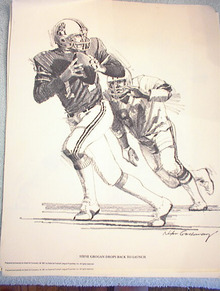 1981 DON HASSELBECK GOES AIRBORNE FOR RECEPTI
