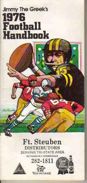 Jimmy the Greeks 1976 Football Handbook