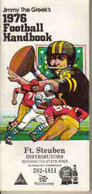Jimmy the Greeks 1976 Football Handbook