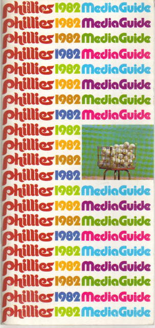 Philidelphia Phillies 1982 Media Guide great