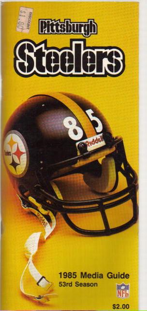 Pittsburgh Steelers 1985 Media Guide great