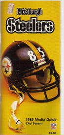 Pittsburgh Steelers 1985 Media Guide great