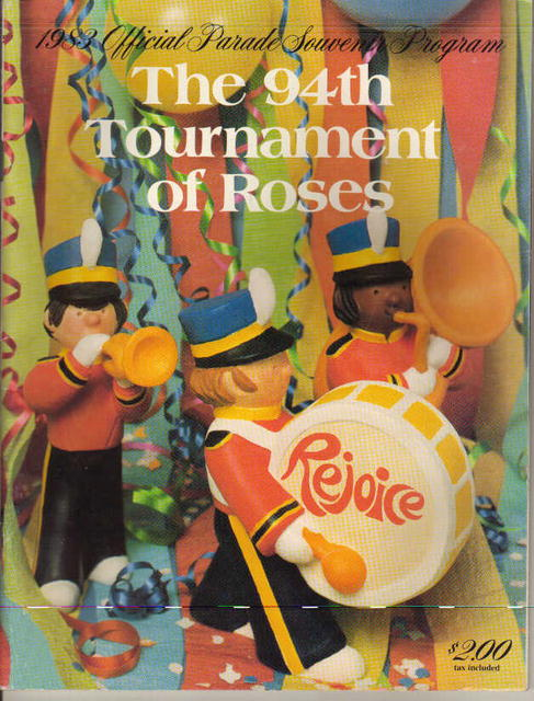 Tournamnet of Roses 94th Parade program 1983