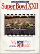 Super Bowl XXII Broncos vs Redskins 1988