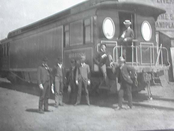 GREAT LATE 1800'S PHOTO OF ADVERTISING TRAIN