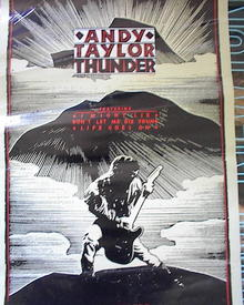 ANDY TAYLOR 'THUNDER 'ALBUM POSTER
