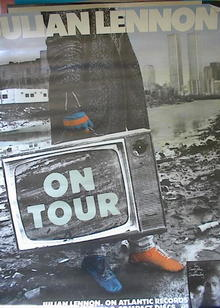 JULIAN LENNON 'ON TOUR' ALBUM POSTER