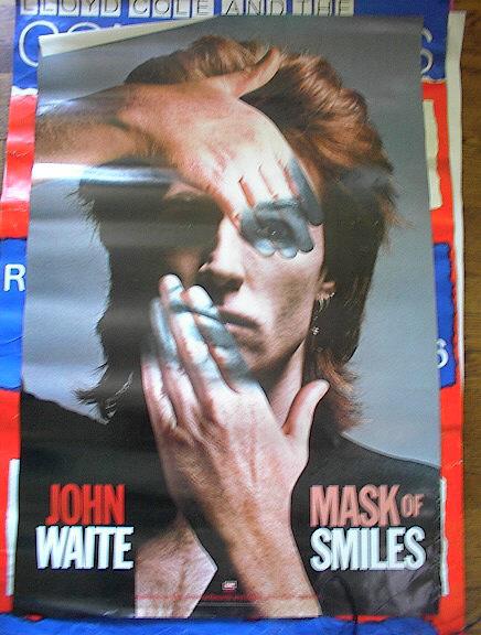 JOHN WAITE 'MASK OF SMILES 'ALBUM POSTER