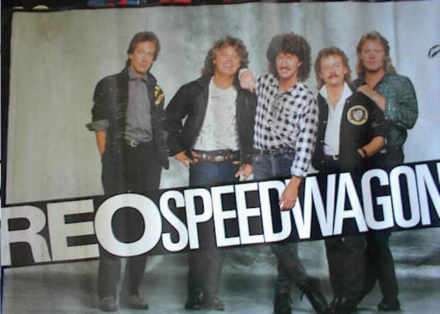 REO SPEED WAGON POSTER OF BAND   NICE    L@@K