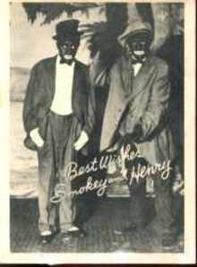Real Photo Black Face Vaudvillians circa 1930
