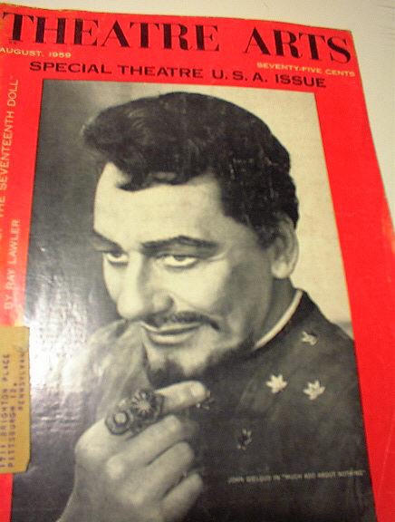 8/1959 SPECIAL U.S.A.ISSUE OF THEATRE ARTS